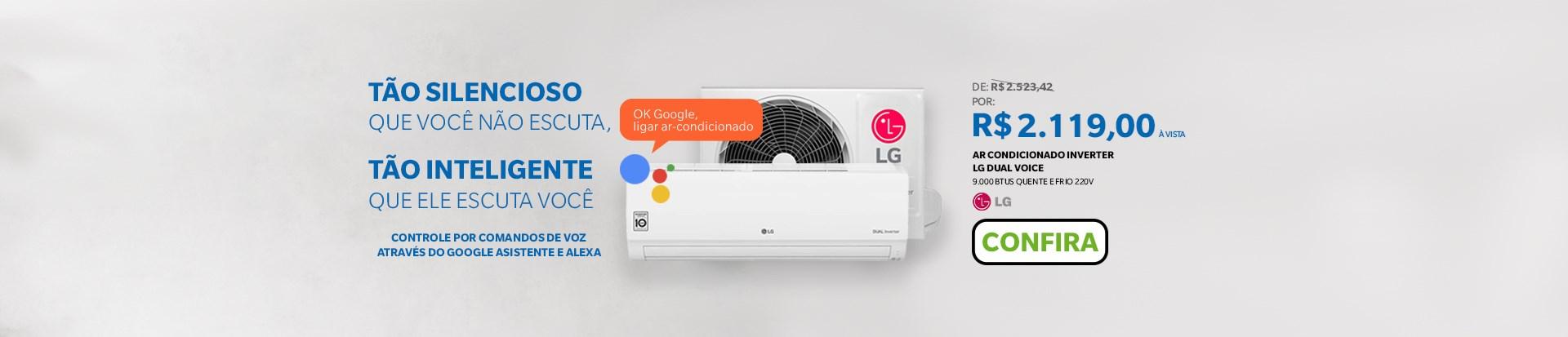 Ar Condicionado LG Dual Voice 9000 BTUs Quente e Frio