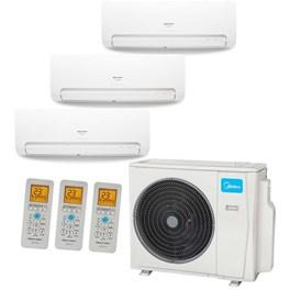 Ar Condicionado Multi Split Springer Midea Tri-Split 27000 Btus 1x 9000 1x 12000 e 1x 18000 Quente e Frio 220V
