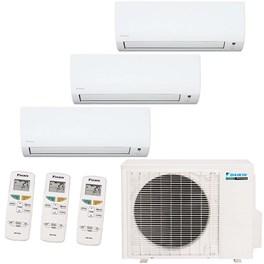 Ar Condicionado Multi Split Daikin Inverter Tri-Split 23200 Quente e Frio 220V Mono com 1x 9000 Hi Wall e 1x 12000 Quente e Frio 220V Mono