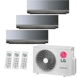 Ar Condicionado Multi Split LG Tri-Split Hi-Wall Inverter 21000 Btus 3x 9000 Quente e Frio 220V