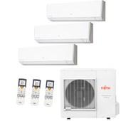Ar Condicionado Multi-Split Inverter Fujitsu Tri-Split 24000 Btus 2x 9000 e 1x 12000 Quente e Frio 220V