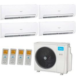 Ar Condicionado Multi Split Springer Midea Quadri-Split 36000 Btus 1x 9000 3x 12000 Quente e Frio 220V
