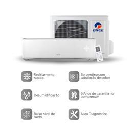 Ar Condicionado Gree Split Eco Garden Hi Wall 27000 Btus Quente e Frio 220V Mono
