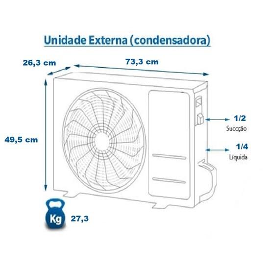 Ar Condicionado Split Elgin Eco Plus 12000 Btus Frio 220v