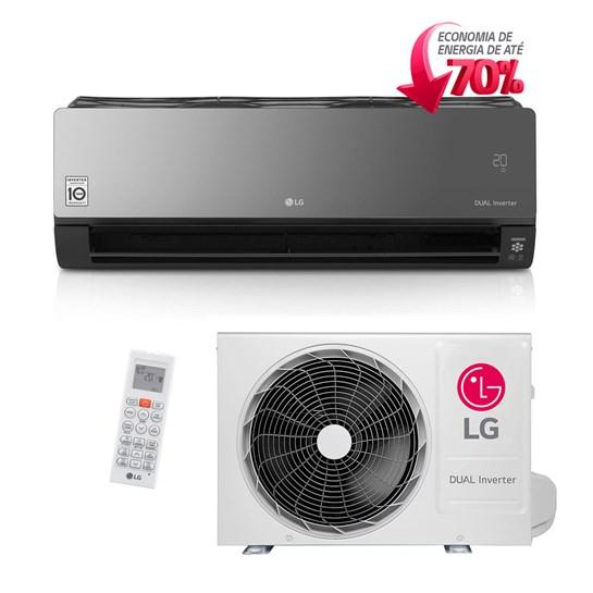 95aa18168 Ar Condicionado Split LG Dual Art Cool Inverter 22000 Btus Quente e Frio  220v