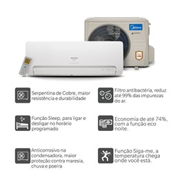 Ar Condicionado Springer Midea Inverter 24000 Quente e Frio 220V Monofásico