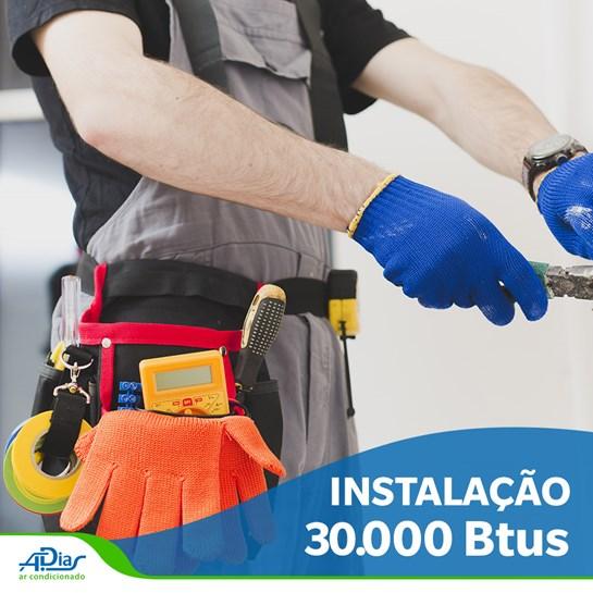INSTALACAO DE AR CONDICIONADO SPLIT HI-WALL DE 30.000BTU COM ATE 5MTS DE TUBULACAO