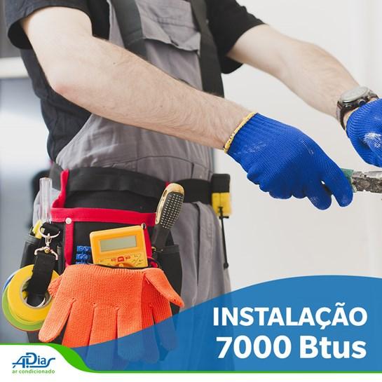 INSTALACAO DE AR CONDICIONADO SPLIT HI-WALL DE 7.000BTU COM ATE 5MTS DE TUBULACAO